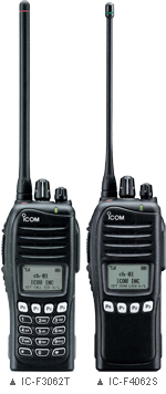 Icom IC-F3062S/IC-F4062S Series, Advanced Handheld Radios